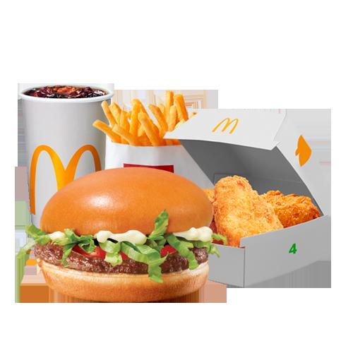 Menu Duo Mabrouk Hamburger Deluxe & Chicken McNuggets™ x4
